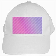 Diagonal Pink Stripe Gradient White Cap by Nexatart
