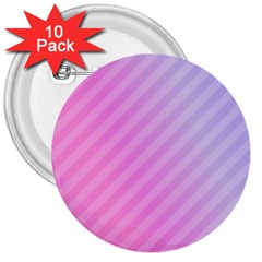 Diagonal Pink Stripe Gradient 3  Buttons (10 Pack)