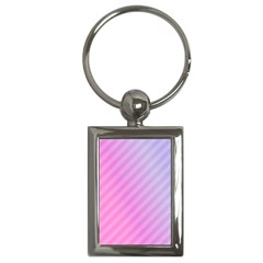 Diagonal Pink Stripe Gradient Key Chains (rectangle)