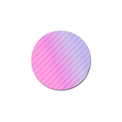 Diagonal Pink Stripe Gradient Golf Ball Marker (4 Pack)