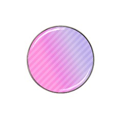 Diagonal Pink Stripe Gradient Hat Clip Ball Marker (10 Pack) by Nexatart
