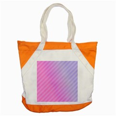 Diagonal Pink Stripe Gradient Accent Tote Bag