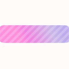Diagonal Pink Stripe Gradient Large Bar Mats