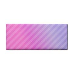 Diagonal Pink Stripe Gradient Cosmetic Storage Cases by Nexatart