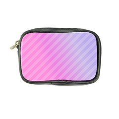 Diagonal Pink Stripe Gradient Coin Purse