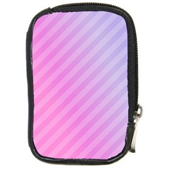 Diagonal Pink Stripe Gradient Compact Camera Cases