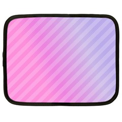 Diagonal Pink Stripe Gradient Netbook Case (xl)