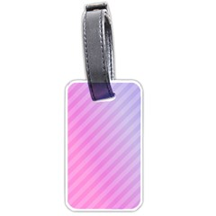 Diagonal Pink Stripe Gradient Luggage Tags (two Sides)
