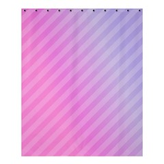 Diagonal Pink Stripe Gradient Shower Curtain 60  X 72  (medium)  by Nexatart
