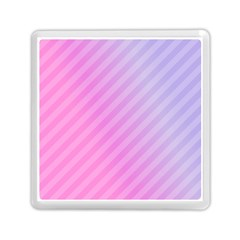 Diagonal Pink Stripe Gradient Memory Card Reader (square)  by Nexatart