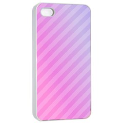 Diagonal Pink Stripe Gradient Apple Iphone 4/4s Seamless Case (white)