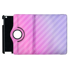 Diagonal Pink Stripe Gradient Apple Ipad 2 Flip 360 Case by Nexatart