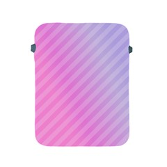 Diagonal Pink Stripe Gradient Apple Ipad 2/3/4 Protective Soft Cases by Nexatart