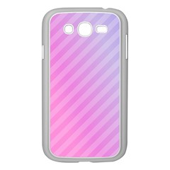 Diagonal Pink Stripe Gradient Samsung Galaxy Grand Duos I9082 Case (white) by Nexatart