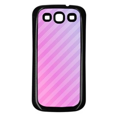 Diagonal Pink Stripe Gradient Samsung Galaxy S3 Back Case (black)