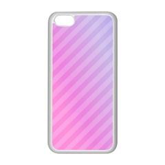 Diagonal Pink Stripe Gradient Apple Iphone 5c Seamless Case (white) by Nexatart