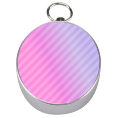 Diagonal Pink Stripe Gradient Silver Compasses by Nexatart