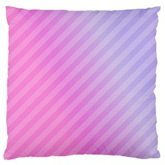 Diagonal Pink Stripe Gradient Standard Flano Cushion Case (one Side)