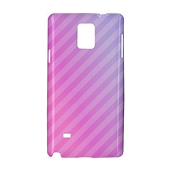 Diagonal Pink Stripe Gradient Samsung Galaxy Note 4 Hardshell Case