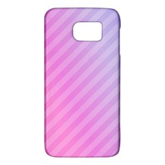 Diagonal Pink Stripe Gradient Galaxy S6
