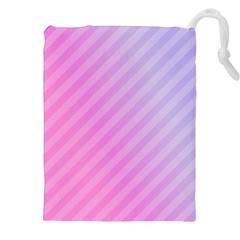 Diagonal Pink Stripe Gradient Drawstring Pouches (xxl)