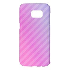 Diagonal Pink Stripe Gradient Samsung Galaxy S7 Edge Hardshell Case