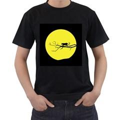 Jaguar Puma Animal Panther Cat Men s T Shirt (black) (two Sided)