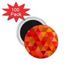 Red Hot Triangle Tile Mosaic 1 75  Magnets (100 Pack)  by Nexatart