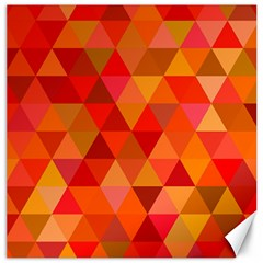 Red Hot Triangle Tile Mosaic Canvas 12  X 12