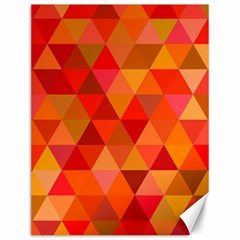 Red Hot Triangle Tile Mosaic Canvas 12  X 16