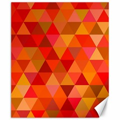 Red Hot Triangle Tile Mosaic Canvas 20  X 24   by Nexatart