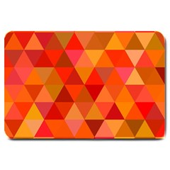 Red Hot Triangle Tile Mosaic Large Doormat