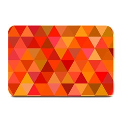 Red Hot Triangle Tile Mosaic Plate Mats