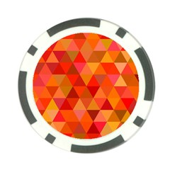 Red Hot Triangle Tile Mosaic Poker Chip Card Guard
