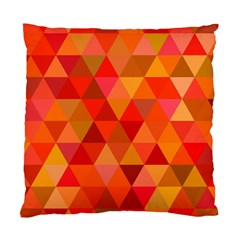 Red Hot Triangle Tile Mosaic Standard Cushion Case (one Side) by Nexatart