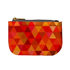 Red Hot Triangle Tile Mosaic Mini Coin Purses