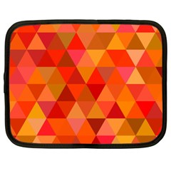 Red Hot Triangle Tile Mosaic Netbook Case (xxl)  by Nexatart