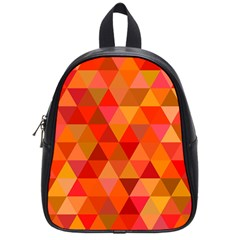 Red Hot Triangle Tile Mosaic School Bag (small)