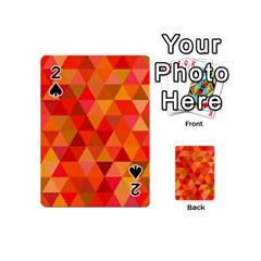 Red Hot Triangle Tile Mosaic Playing Cards 54 (mini)