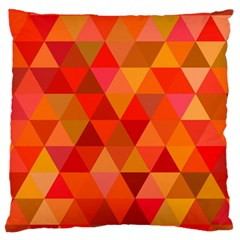 Red Hot Triangle Tile Mosaic Large Cushion Case (two Sides)