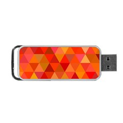 Red Hot Triangle Tile Mosaic Portable Usb Flash (two Sides)