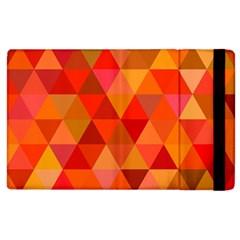 Red Hot Triangle Tile Mosaic Apple Ipad 3/4 Flip Case by Nexatart