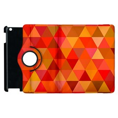 Red Hot Triangle Tile Mosaic Apple Ipad 3/4 Flip 360 Case by Nexatart