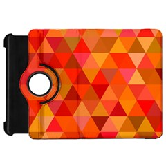 Red Hot Triangle Tile Mosaic Kindle Fire Hd 7  by Nexatart