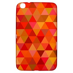 Red Hot Triangle Tile Mosaic Samsung Galaxy Tab 3 (8 ) T3100 Hardshell Case