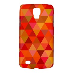 Red Hot Triangle Tile Mosaic Galaxy S4 Active by Nexatart