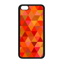 Red Hot Triangle Tile Mosaic Apple Iphone 5c Seamless Case (black)