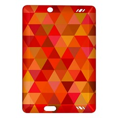 Red Hot Triangle Tile Mosaic Amazon Kindle Fire Hd (2013) Hardshell Case by Nexatart