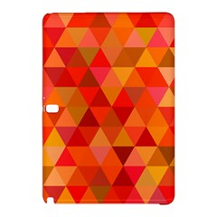 Red Hot Triangle Tile Mosaic Samsung Galaxy Tab Pro 10 1 Hardshell Case