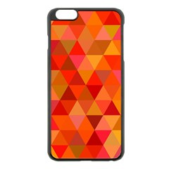 Red Hot Triangle Tile Mosaic Apple Iphone 6 Plus/6s Plus Black Enamel Case by Nexatart